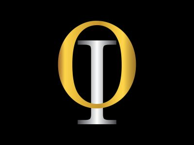 OI initial letter with gold and silver