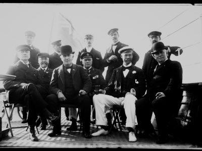 Edison & Lipton On Ship's Deck