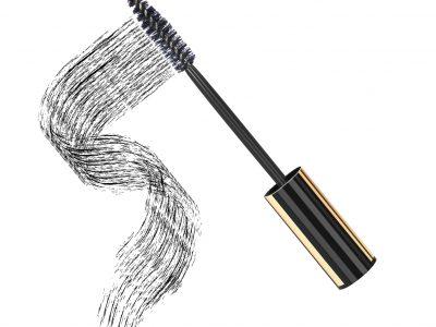 Black mascara on white background, vector