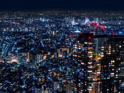 Night view of the Tokyo Shinjuku