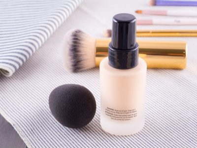 Foundation cream makeup and accessories, cosmetic for woman