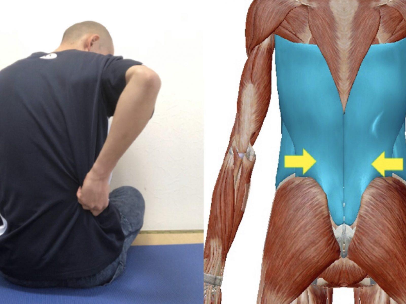 脇腹から背中の痛み