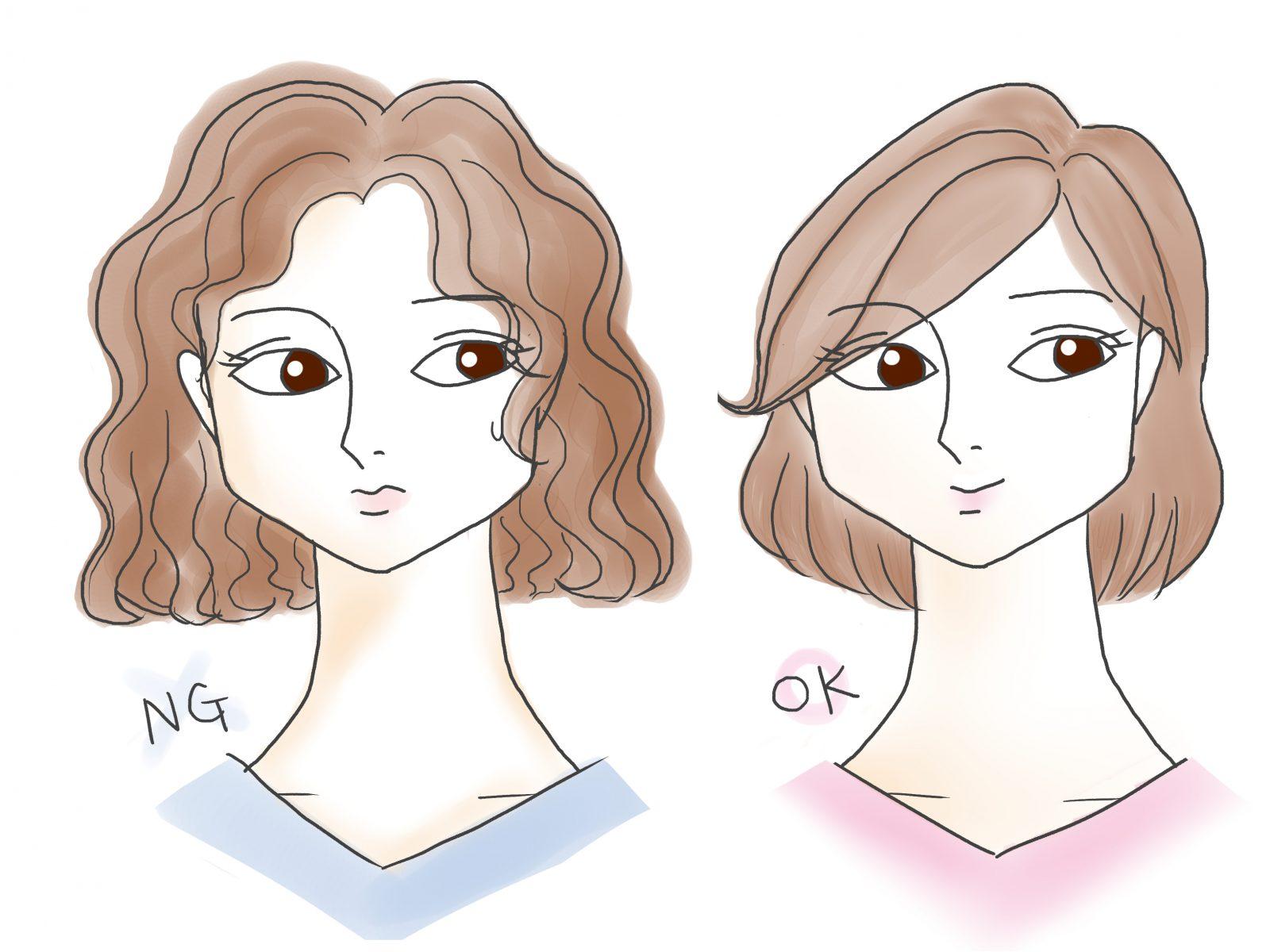 前髪 ベース 顔